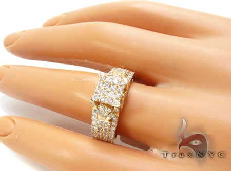 Ladies Yellow Grill Ring Engagement