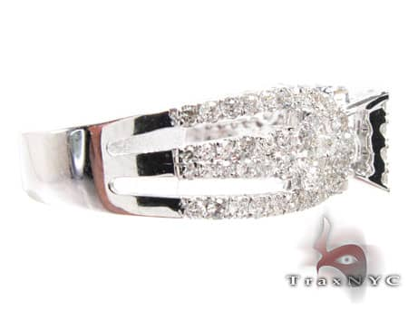 Ladies White Grill Ring Engagement