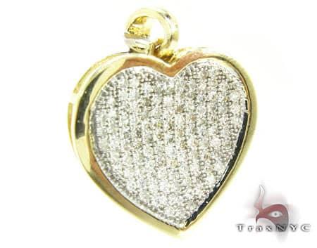 Asya's Golden Heart Pendant Stone