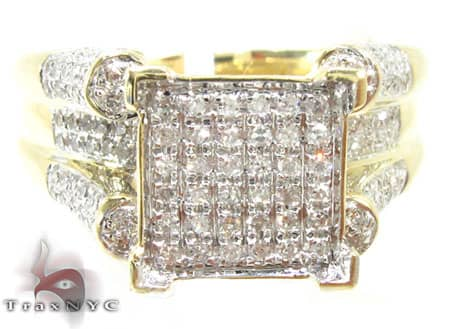10K Yellow Gold Diamond Triumph Ring Engagement