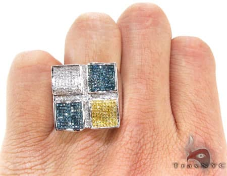 Multi Color Quadrant Ring 2 Stone