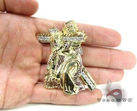 Small Crucifixion Pendant Metal