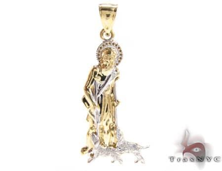 Small saint lazarus pendant mens gold pendant yellow gold 10k small saint lazarus pendant mozeypictures Choice Image