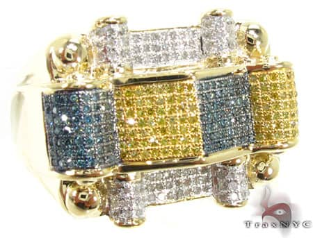 Multi Color Rocksolid Ring Stone