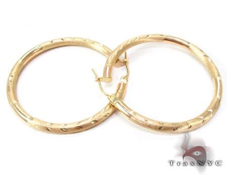 Golden Riffle Hoops Metal