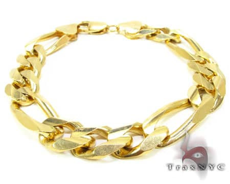 MENS DIAMOND BRACELETS IN YELLOW ROSE WHITE GOLD, EACH MEN'S