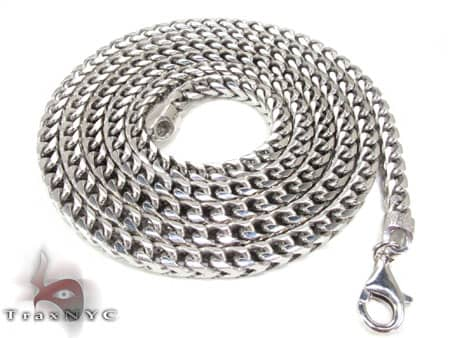 Gold Dipped Silver Franco Chain 36 Inches, 3mm, 60.90 Grams Silver