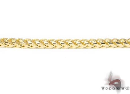 Yellow Gold Solid Franco Chain 36 Inches, 3.5mm, 67.40 Grams Gold