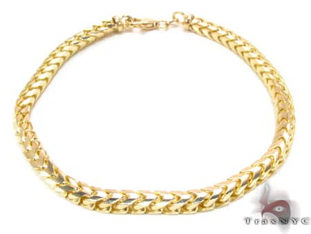 YG Franco Bracelet 9.25 Inches, 4.5mm, 25.5 Grams Gold