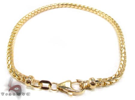 YG Franco Bracelet 8.4 Inches, 2.5mm, 10.4 Grams Gold