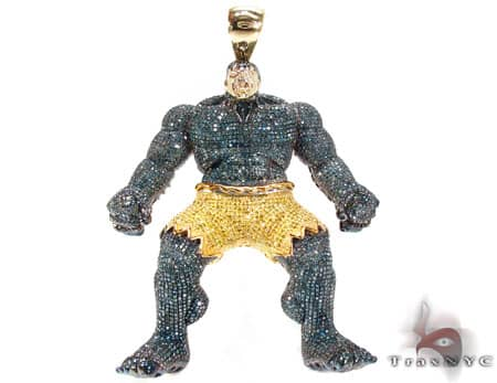 Custom Jewelry - Hulk Pendant Diamond Pendants