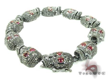 Black Diamond Skull Bracelet Diamond