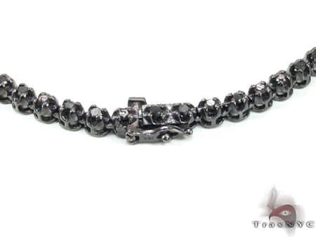 Black Gold Diamond Chain 30 Inches, 4mm, 44.9 Grams Diamond