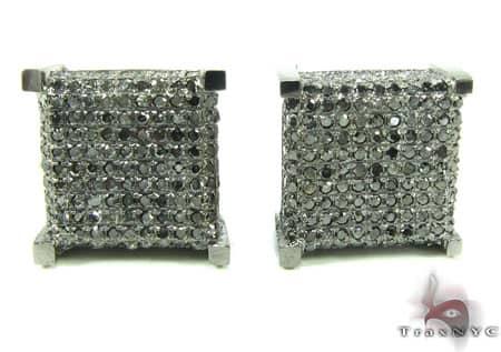 Black Diamond Castle Earrings Stone