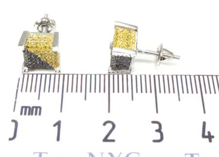 Canary&Black Castle Earrings Stone