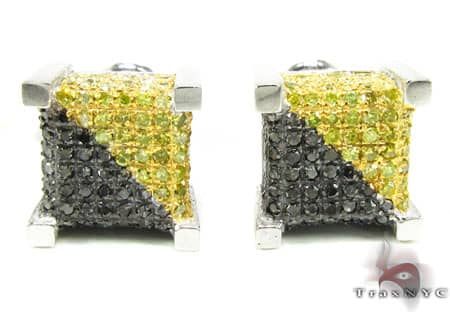 Canary&Black Castle Earrings Mens Diamond Earrings