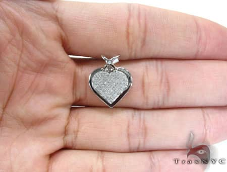Micro Pave Heart Pendant Style