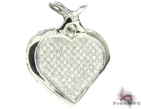 Micro Pave Heart Pendant Style