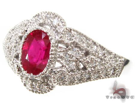 Small Veronica Ruby Ring Anniversary/Fashion