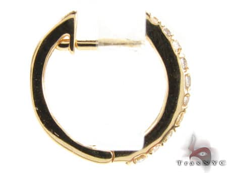 Small Flash Hoops 2 Stone