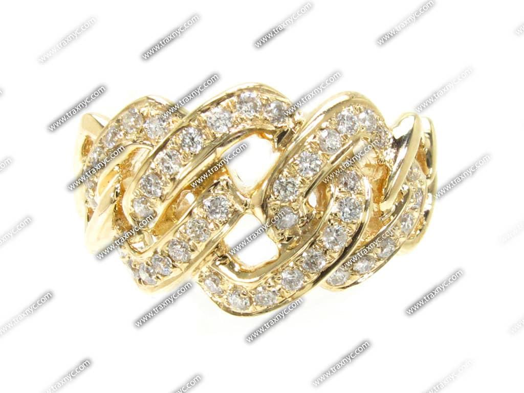 yg intersect ring joe rodeo ring yellow gold 14k