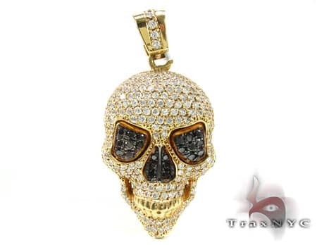 Yellow Skull Head Pendant Metal