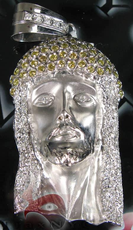 XL Canary & White Jesus Pendant Style