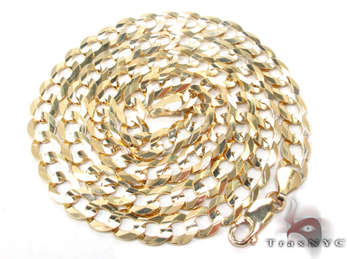 14k Gold Curb Chain 22 Inches 7mm 25.9 Grams Gold