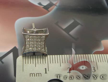 Single SQ Pave Earring Style