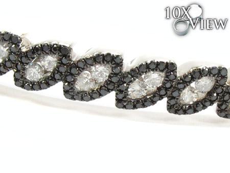 14K Gold Black and White Diamond Bangle Bracelet 25426 Diamond