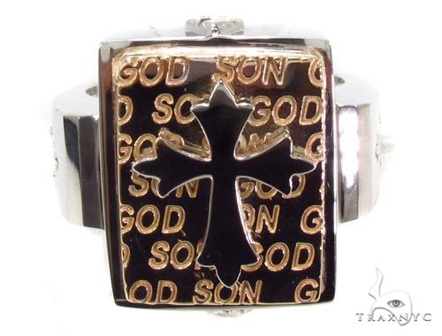 14K Gold Cross Ring 35207 Metal