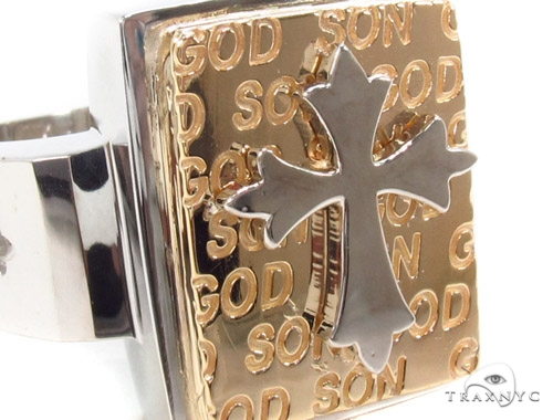 14K Gold Cross Ring 35207 Metal