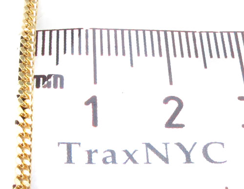 14K Gold Miami Cuban Chain 22 Inches, 1.5mm, 5.2 Grams Gold