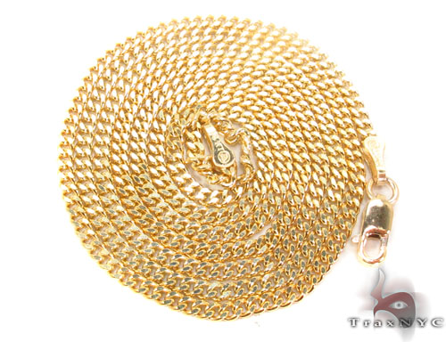 14K Gold Cuban Chain 22 Inches, 2mm, 8.3 Grams Gold