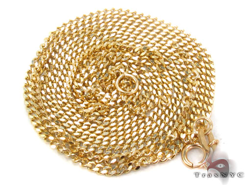 14K Gold Miami Cuban Chain 24 Inches, 1.5mm, 5.7 Grams Gold