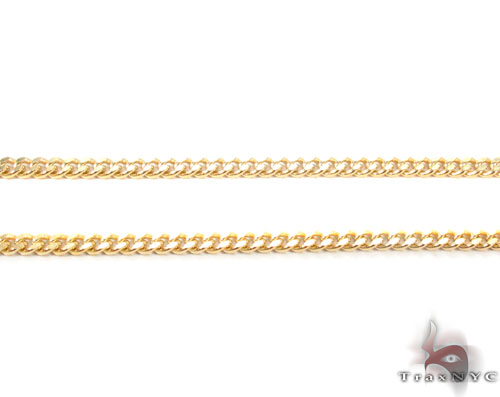 14K Gold Miami Cuban Chain 24 Inches, 2mm, 8.9 Grams Gold