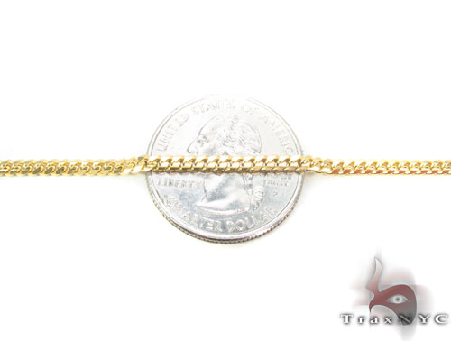 14K Gold Cuban Chain 24 Inches, 2.5mm, 12.5 Grams Gold