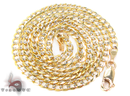 14K Gold Cuban Chain 24 Inches 3mm 7.1 Grams Gold