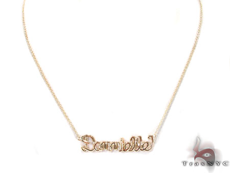 14K Gold Dannielle Custom Necklace Gold