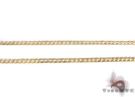 14K Gold Diamond Cut Cuban Chain 20 Inches 2mm 4.0 Grams Gold