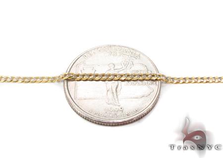 14K Gold Diamond Cut Cuban Chain 20 Inches 2mm 3.50 Grams Gold