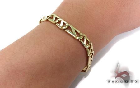 14K Gold Fancy Figaro Bracelet 31278 Gold