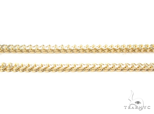 14K Gold Franco Chain 40 Inches 3mm 34.5 Grams Gold