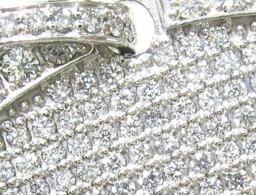 14K Gold Fully Ice Diamond Dog Tag Pendant Style