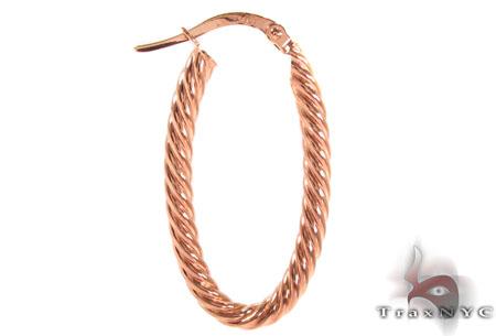 14K Gold Hoop Earrings 31341 Metal