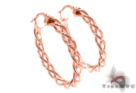 14K Gold Hoop Earrings 31347 Metal