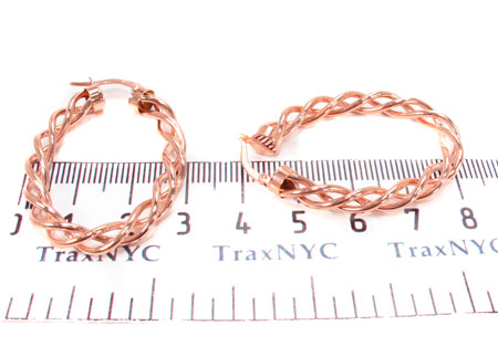 14K Gold Hoop Earrings 31347 Metal