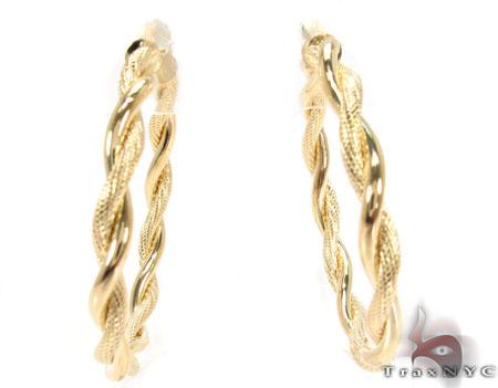 14K Gold Hoop Earrings 31361 Ladies Gold Earring Yellow Gold 14k d927419af