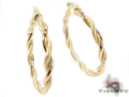 14K Gold Hoop Earrings 31361 Metal