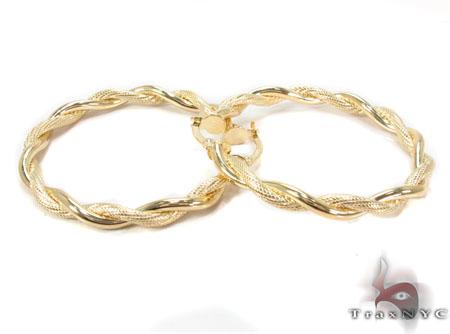 14K Gold Hoop Earrings 31361 Metal